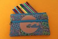 Colourful neoprene pencil case pouch