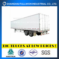ALUMINUM SHEET DOUBLE AXLE DRY VAN CHEAP SEMI TRAILER