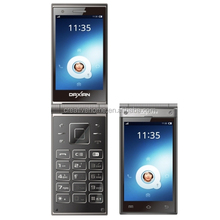 Wholesale 3.5 inch Android OS 4.2 elder Smart Phone, MTK6572 Dual Core ,WCDMA, 5MP qwerty keyboard flip Android mobile phone