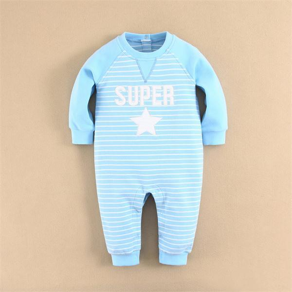 100% Combed Cotton Baby Clothes Long Sleeve Baby Bodysuit Knitted Baby Romper Wholesale (14292)
