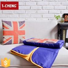 New England Style Travel Cushion Blanket Plain Cushion Quilt Cute Printed Cushion and Blanket
