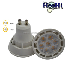 Low Cost Aluminum with Plastic Housing PC Cover GU10 LED Bulbs LED Lights