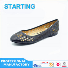 2016 Popular design comfortable laser ballerina shoes for young lady women shoes