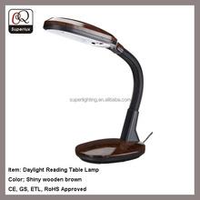 Power outlet office desk light plastic reading table lamp