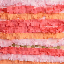 PINK Crepe Paper Streamers Crepe Paper Streamers 4CM 25M backdrop with the new Fringe Cutter Paper Garland BANNER BUNTING