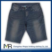 polyester cotton spandex capri pants/knitted denim