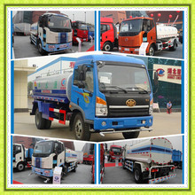Carbon steel stainless Mobile Water tanker Truck 10000l to 15000l Water Sprinkler truck FAW Watering cleaning vehicle for sale