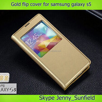 Auto sleep wake Super slim window view leather Flip case for samsung galaxy s5 gt-19600,for samsung galaxy s5 cover