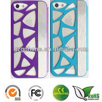 Caving hollow hard case for iPhone5 case