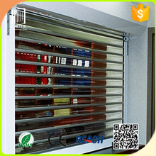 Security Customized Full Vision Polycarbonate Shutter/transparent plastic rolling shutter