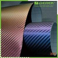 Wholesale Car sticker chameleon Carbon fiber vinyl wrap film, Car Vinyl Wrap with air free bubbles 1.52*30m