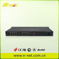 4/16 Channel Fiber Optic Video Converter /optic fiber digital to analog converter
