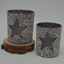 Star Shaped Hand Made Glass Candle Holder with Glass Cup For Wedding Decoration