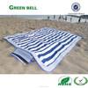 folding beach mat,straw beach mat with strap and pocket