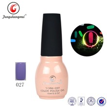 QL027 fengshangmei color gel polish soak off luminous gel polish uv
