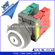 22mm round key-lock 2 segments push button switch