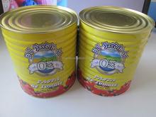 Style italien tomate ketchup marque à bas prix pâte de tomate en conserve pour l'europe