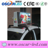 double sided led taxi top advertising led display taxi top led display 3G wireless asychronous p5 led moving display sign