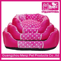 Luxury fleece princess dog bed soft pet cushion bed for dog