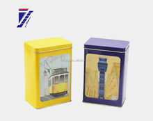 good quality brand gift rectangular shape tin box new design for tea/candy