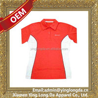 Cheap useful 100% polyester v-neck t-shirt