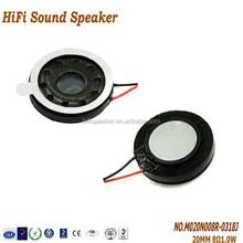 20MM 8OHM 1.0W Mobile Mini Speaker Manual, Mobile Phone Speaker Part