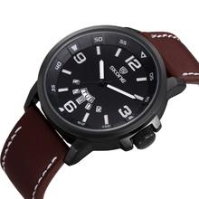 SKONE 9345 Brown Leather Bracelet all type of wrist watch