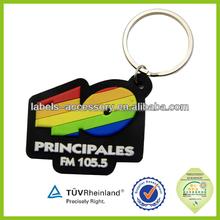 2014 promotional custom new plastic printed soft reflective keychain