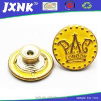 crown design metal button jeans purse frame for jenas coat