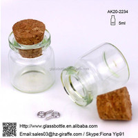 China Wholesaler Small Glass Bottle Vial Charm Pendant with Cork AK20-2234