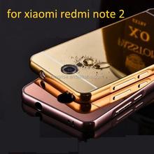 Luxury Mirror Case for xiaomi redmi note 2 Aluminum Bumper Case