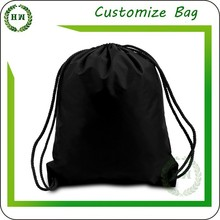 Hongway Colorful solid/plain dyed drawstring non woven/nylon/polyester backpack, big advertising/packing /shopping/travel bag
