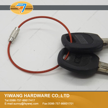 10 years manufacturer direct bulk red cable keyring