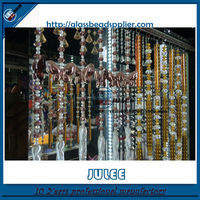 Pujiang crystal manufacturer crystal beaded curtain