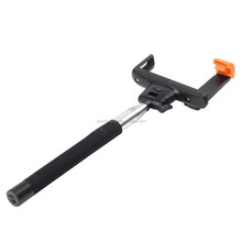 Strong Extendable Lightweight Wireless Mobile Phone Monopod Self-Portrait Selfie Stick with Remote Shutter Button