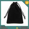 Black Velvet Wedding Gift Bag Jewelry Pouch