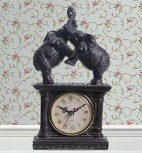 Resin fengshui elepanht retro antique clock
