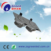 high quality AC85-265V indoor use recessed ar111 led dimmable led grille lights with 3years warranty