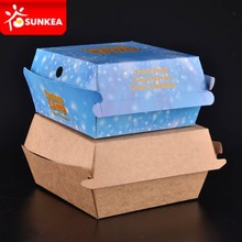 Caja de papel para hamburguesas con diseño customizado, impreso KFC