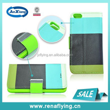 Factory price !! blue black and green PU leather case for iPhone 5 China wholesale