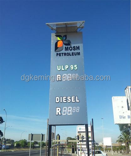 Petrol price big signage 7 inch led 7 segment led 7 inch display
