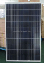 156x156 cell 24v 250w poly solar panel