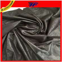 Warp Knitting PU Caoted Bornzing Suede Fabric