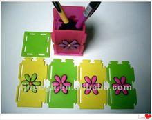 soft pvc 3D flower pen container