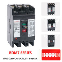 BDM7 50A 100A 250A 400A electrical circuit breaker mccb