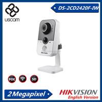 New item!!! Original Hikvision 2.0MP cube ip camera security ir secure eye cctv cameras S-2CD2420F-IW