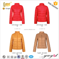 cheap china wholesale clothing shiny color comfy down jacket for women