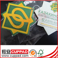 hanging paper,free sample new car flavour & fragrance hanging paper car air freshener, hami melon scent