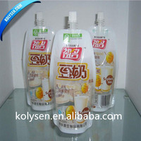 Stand up bag with spout made in China for soursop juice and fruit jelly packaging