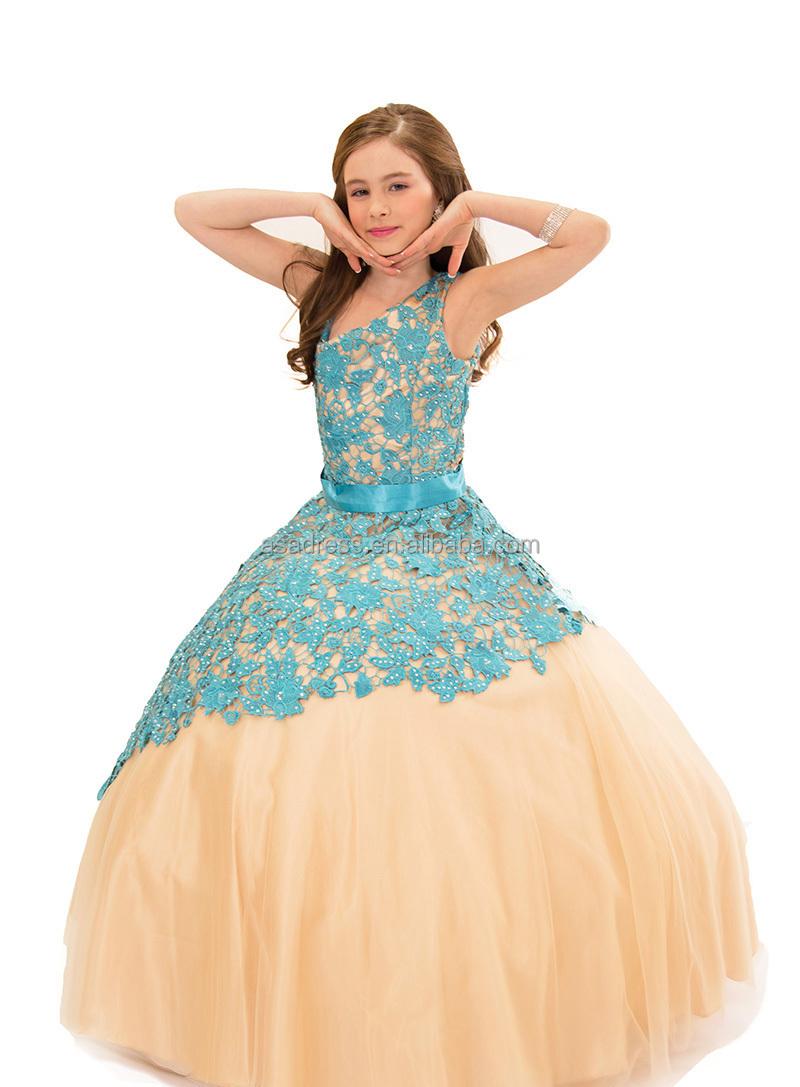 Rapd32 Stunning Appliqued Kid Party Dress Cheap Organza Flower Girl